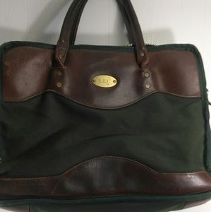 ORVIS mini canvas suitcase.